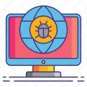 bug, crawler, marketing icon