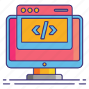 code, coding, header, marketing icon