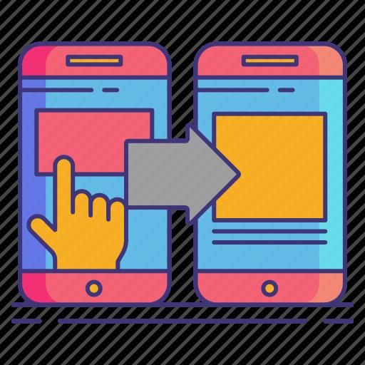 management, marketing, redirect icon