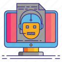 marketing, robots, txt icon