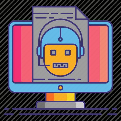 marketing, robots, txt icon