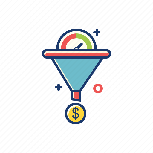 business, conversion, funnel, lead generation, marketing, rate, sales icon