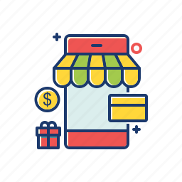 cart, ecommerce, marketing, mobile, online, shop, shopping icon