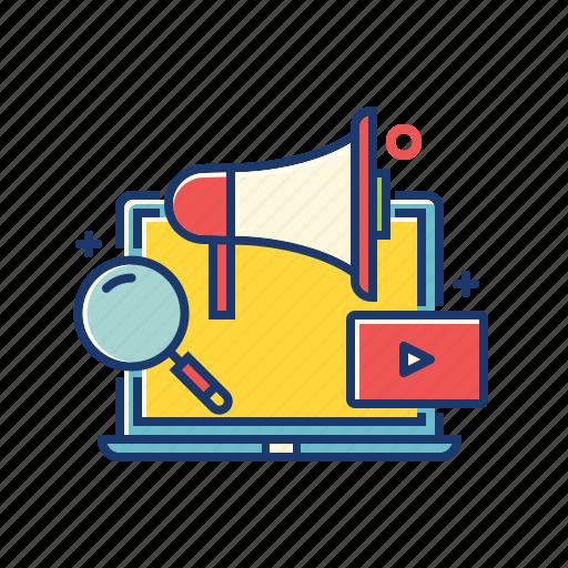 internet, marketing, marketing icon, mega phone, online, promotion, web icon