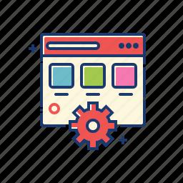 browser, control, optimization, seo, settings, tool icon