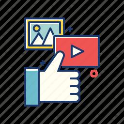 internet, like, marketing, media, online, social icon
