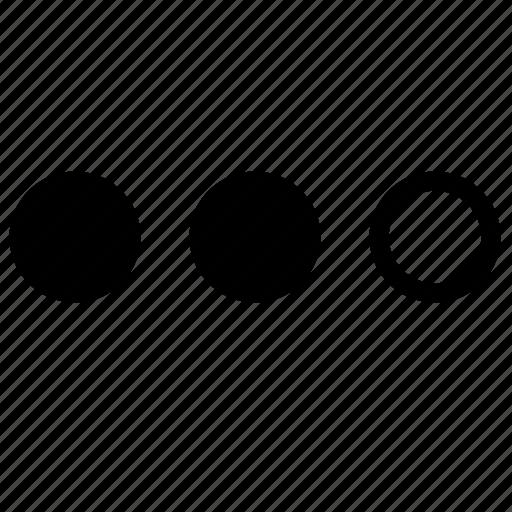 dots, download, process, wait icon