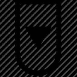arrow, bar, bottom, menu icon