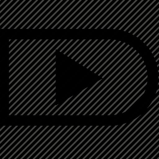 arrow, bar, menu, right icon