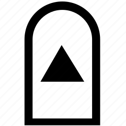 arrow, bar, menu, top icon