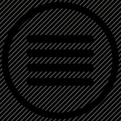 paragraph, round, speach, text icon