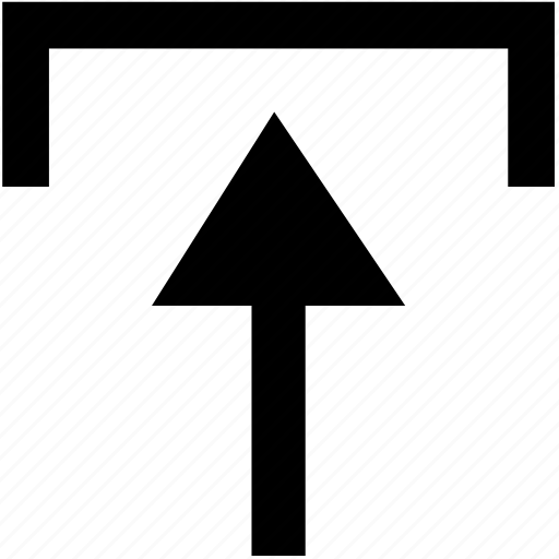 arrow, bar, menu, upload icon