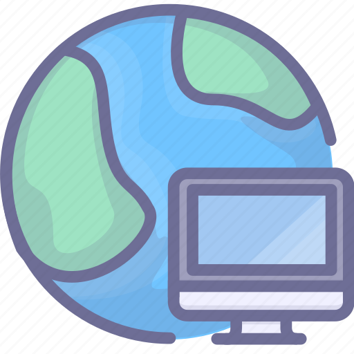 computer, earth, internet, network icon