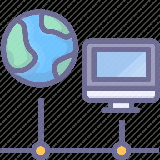 computer, internet, network, online, web icon