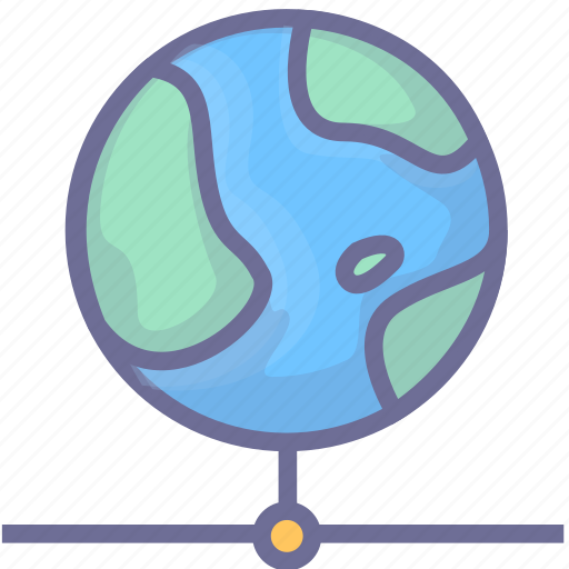 connection, earth, internet, network icon