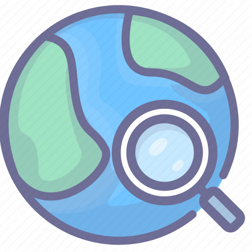earth, network, search icon