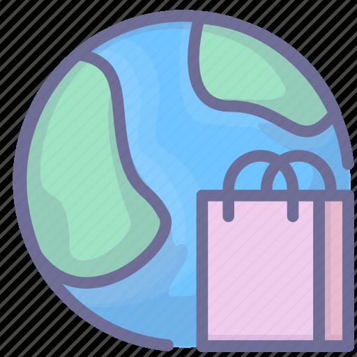 ecommerce, gobal, shopping icon