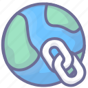 connection, internet, link, network icon