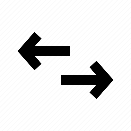 arrows, communication, data travel, left arrow, right arrow icon
