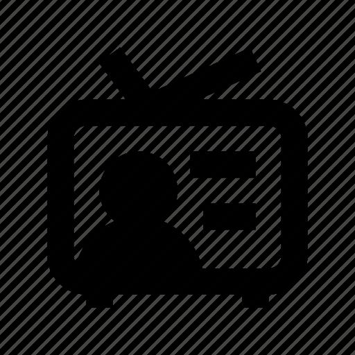 broadcasting, retro tv, tv, tv set, vintage tv icon