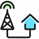 antenna, house, connect