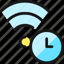 wifi, clock