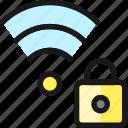 wifi, lock