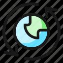 arrow, network, sync