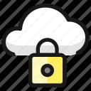 cloud, lock
