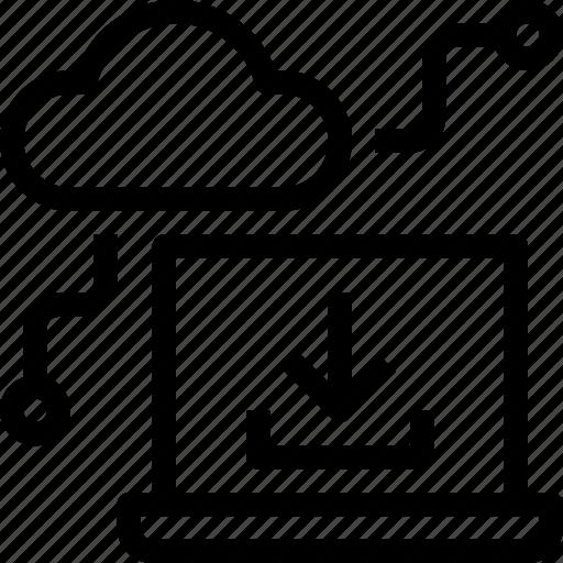 cloud, computer, data, database, download, server, storage icon