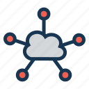 cloud, network, connection, internet