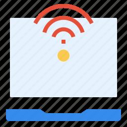 business, communication, internet, laptop, online, signal icon