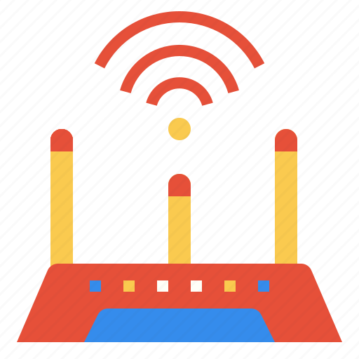 electronics, router, tools, wireless icon
