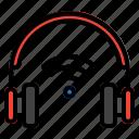 headphone, signal, wireless, music, headset, audio, song