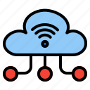 cloud, computing, network, wifi, wireless, server, connection