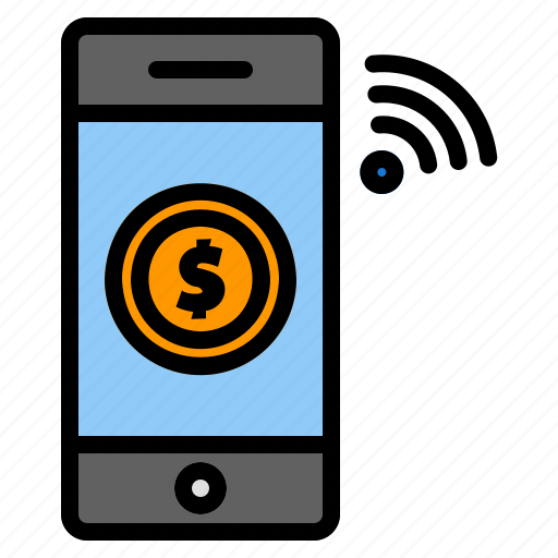 Money, transfer, payment, smartphone, wireless, banking, mobile icon - Download on Iconfinder