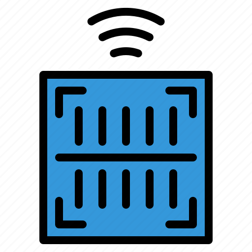 barcode, internet, iot, things, wifi icon