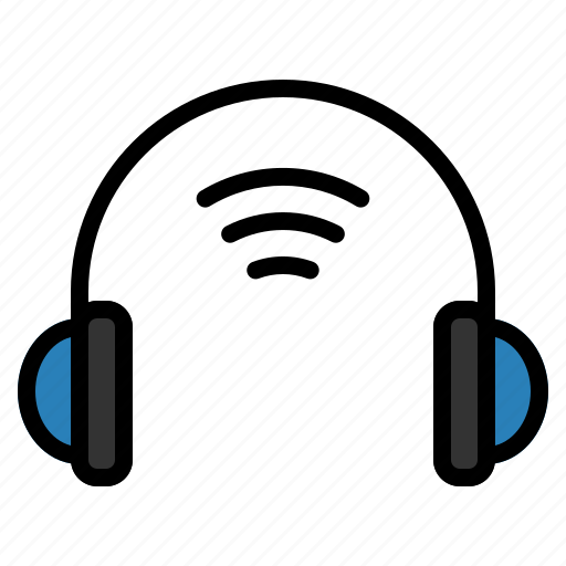 headphone, internet, iot, things, wifi icon
