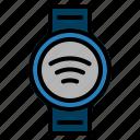 internet, iot, smartwatch, wifi icon