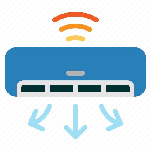 air, contioner, internet, iot, wifi icon