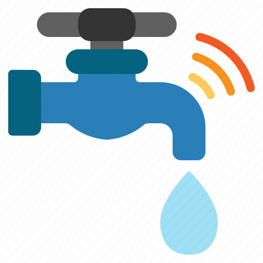 faucet, internet, iot, things, wifi icon