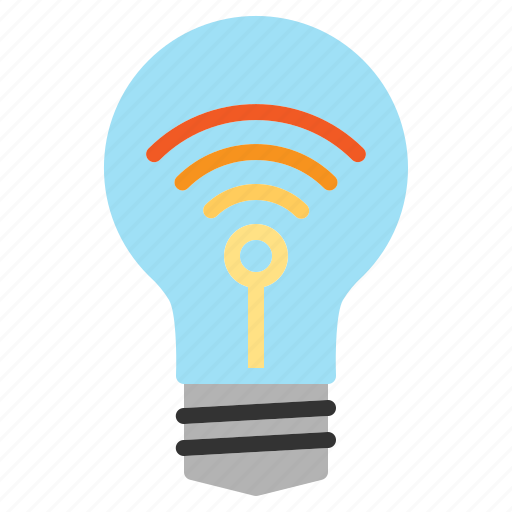 Internet, iot, lightbulb, things, wifi icon - Download on Iconfinder