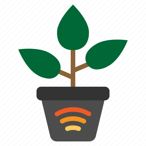 internet, iot, nature, things, wifi icon