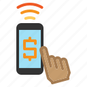 iot, pay, payment, smartphone, wifi icon