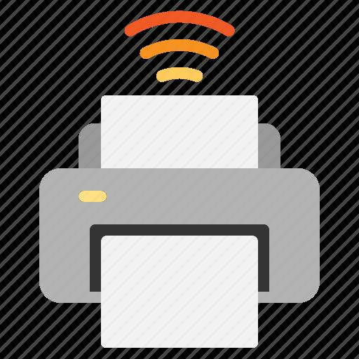 internet, iot, printer, things, wifi icon