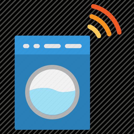 Internet, iot, machine, washing, wifi icon - Download on Iconfinder