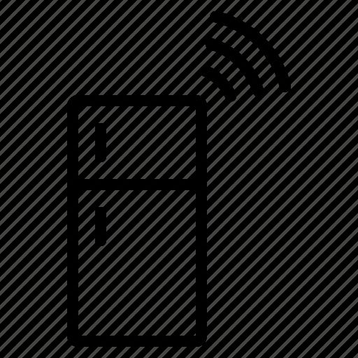 internet, iot, refrigerator, things, wifi icon