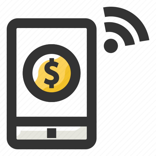 internet banking, payment, shopping, wifi, wireless communication icon