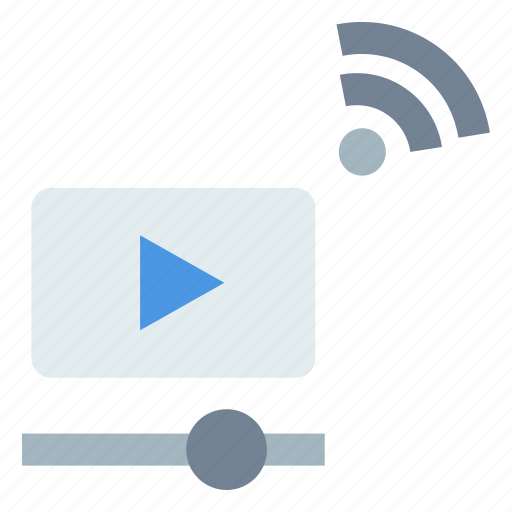 internet of things, online video, video, video streaming icon