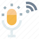 mic, microphone, voice, voice recorder, wireless icon